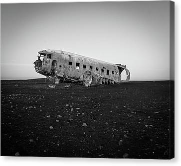 Abandoned Plane On Beach Canvas Print