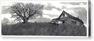Abandoned Prairie Farmhouse Canvas Print