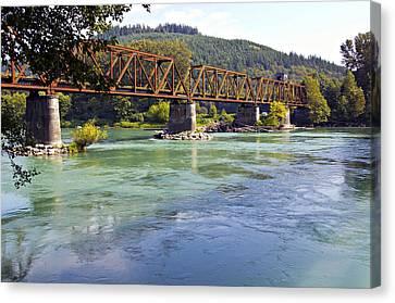 Abandoned Railroad Bridge Canvas Print by Paul Fell