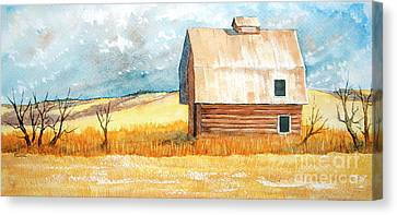 Abandoned Canvas Print by Rebecca Davis