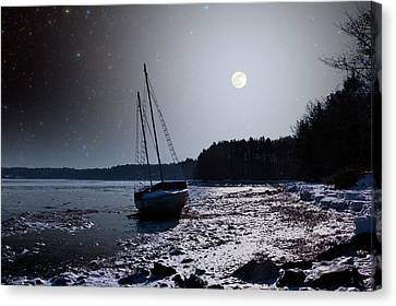 Canvas Print featuring the photograph Abandoned Sailboat by Larry Landolfi