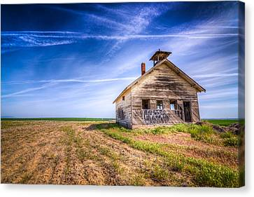 Abandoned School House Canvas Print by Spencer McDonald