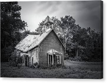 Old School Houses Canvas Print - Abandoned Schoolhouse by Tom Mc Nemar