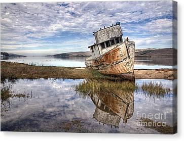 Abandoned Ship Canvas Print by Eddie Yerkish