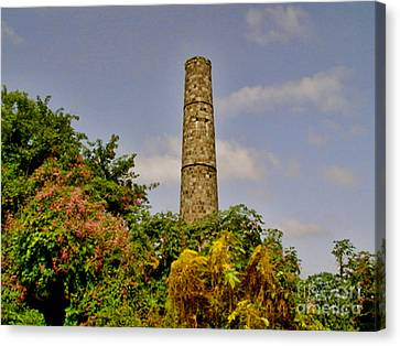 Abandoned Sugar Factory Nevis Canvas Print by Louise Fahy