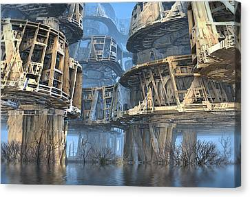 Abandoned Swamp Village Canvas Print
