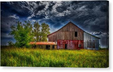 Abandoned Through The Reeds Canvas Print by Bill Tiepelman
