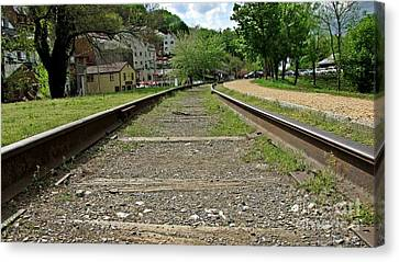 Abandoned Track At Harpers Ferry Canvas Print by Ben Schumin