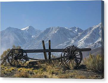 Abandoned Wagon In The High Sierra Nevada Mountains Canvas Print by Frank Wilson