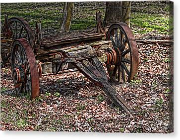 Abandoned Wagon Canvas Print by Tom Mc Nemar