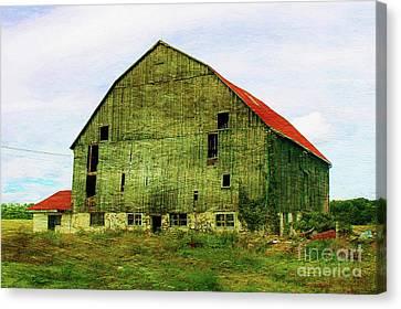 Abandoned Wooden Barn Canvas Print