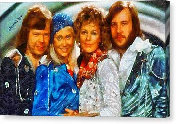 Abba At Eurovision 1974 - Da Canvas Print by Leonardo Digenio