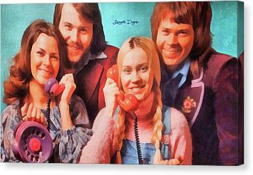 Abba Ring - Watercolor  Style Canvas Print by Leonardo Digenio