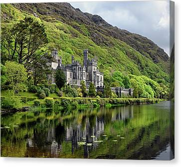 Abbey By The Lake Canvas Print by Chris Buff