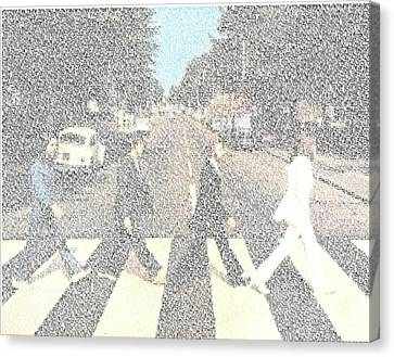 Abbey Road Beatles Songs Mosaic Canvas Print by Paul Van Scott