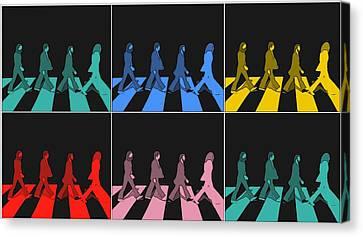 Abbey Road Canvas Print - Abbey Road Pop Art Panels by Dan Sproul