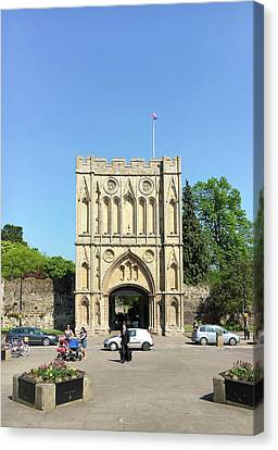 Medieval Entrance Canvas Print - Abbeygate by Tom Gowanlock