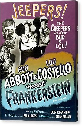 Abbott And Costello Meet Frankenstein Canvas Print