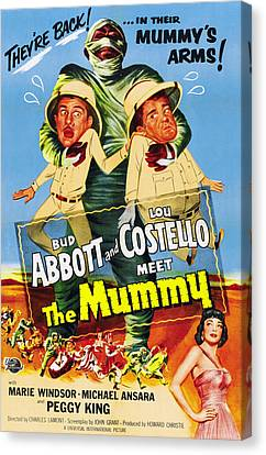 Horror Fantasy Movies Canvas Print - Abbott And Costello Meet The Mummy Aka by Everett