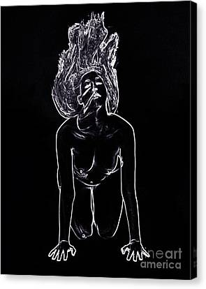 Model 3001 Fine Art Nude Drawings In Black And White 1083.01 Canvas Print