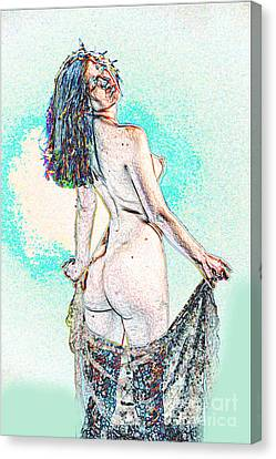Erotic Nude Canvas Print - Model 3001 Nude Fine Art Painting In Color 1108.02 by Kendree Miller