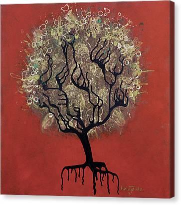 Abc Tree Canvas Print