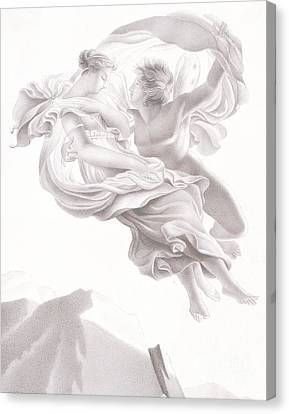 Abduction Of Psyche Canvas Print by Therese Macdonale