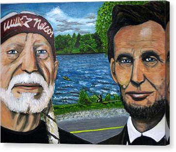 Abe And Willie Canvas Print by Joshua Bloch