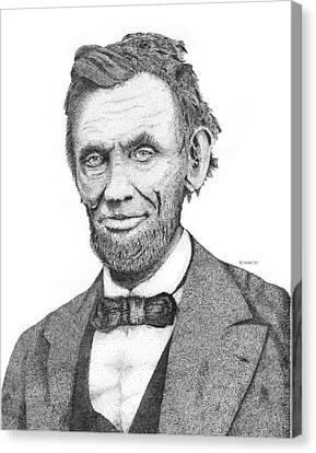 Abe Lincoln Canvas Print by Kaz Ayukawa