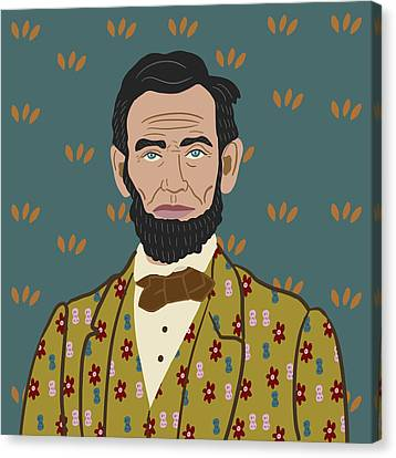 Abe Lincoln Canvas Print by Nicole Wilson