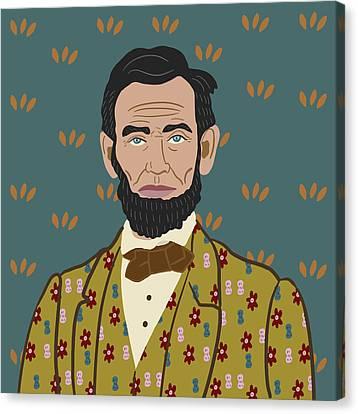 Potus Canvas Print - Abe Lincoln by Nicole Wilson