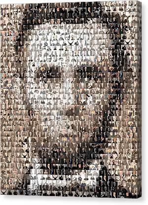 Abe Lincoln Presidents Mosaic Canvas Print by Paul Van Scott