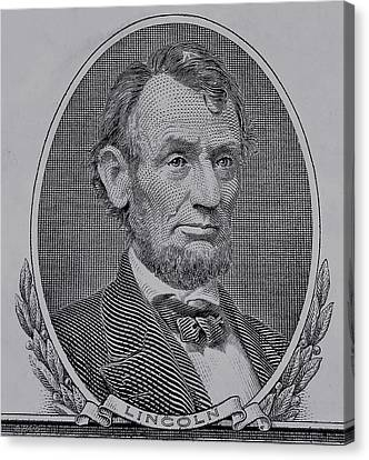 Canvas Print featuring the photograph Abe On The 5 Gray by Rob Hans