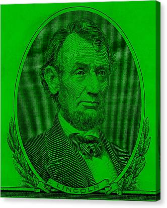 Canvas Print featuring the photograph Abe On The 5 Green by Rob Hans
