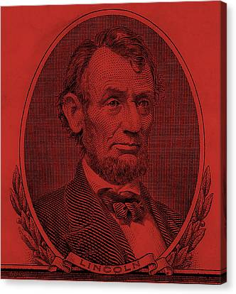 Canvas Print featuring the photograph Abe On The 5 Orange by Rob Hans