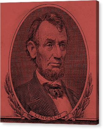 Canvas Print featuring the photograph Abe On The 5 Peach by Rob Hans