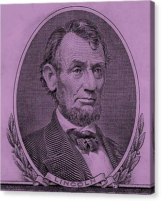 Canvas Print featuring the photograph Abe On The 5 Pink by Rob Hans