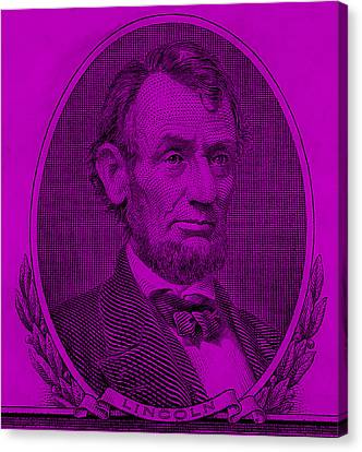 Canvas Print featuring the photograph Abe On The 5 Purple by Rob Hans