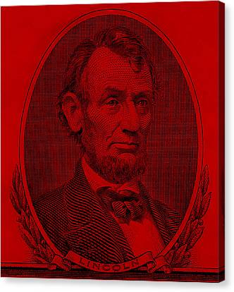 Canvas Print featuring the photograph Abe On The 5 Red by Rob Hans