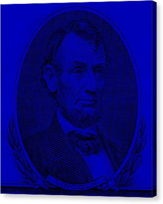 Canvas Print featuring the photograph Abe On The 5 Violet by Rob Hans