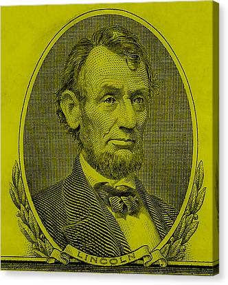 Canvas Print featuring the photograph Abe On The 5 Yellow by Rob Hans