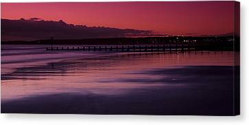 Aberdeen Beach After Sunset Canvas Print by Gabor Pozsgai