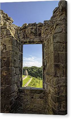 Canvas Print featuring the photograph Aberdour Castle by Jeremy Lavender Photography
