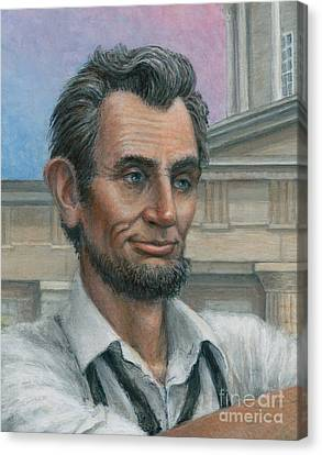 Abe's 1st Selfie - Detail Canvas Print by Jane Bucci