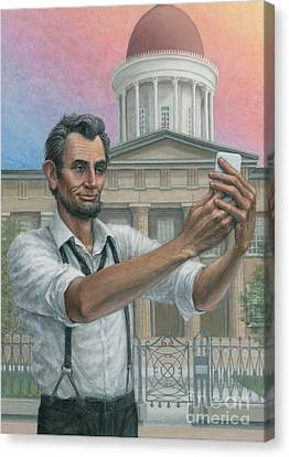 Abe's 1st Selfie Canvas Print by Jane Bucci