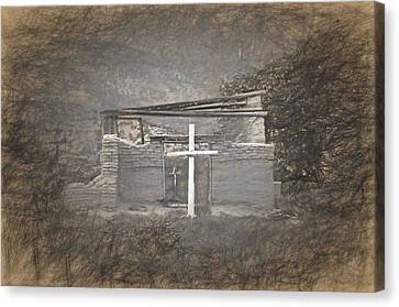 Abiquiu Nm Church Ruin Canvas Print