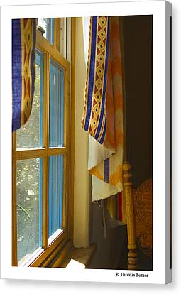 Canvas Print featuring the photograph Abiquiu Window by R Thomas Berner