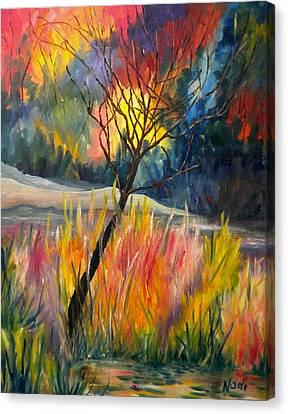 Ablaze Canvas Print by Renate Nadi Wesley