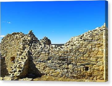 Canvas Print featuring the photograph Abo Mission Ruins New Mexico by Jeff Swan