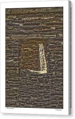 Canvas Print featuring the photograph Abo Window by R Thomas Berner